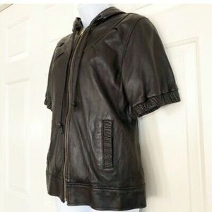 Mike & Chris short sleeve  real leather jacket